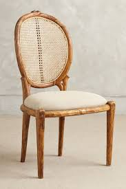 armless cane back dining chair anthropologie