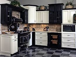 Black Kitchen Cabinets Granite Countertops Black And White Kitchen Cabinets Lighting