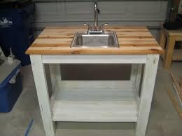 Portable Outdoor Kitchens - outdoor white portable outdoor kitchen sink for backyard patio
