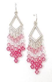 Pink Chandelier Earrings Pink Blush Chandelier Earrings