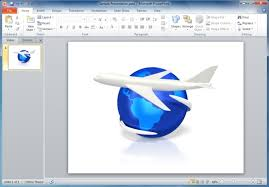 airplane powerpoint template with animations
