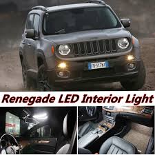 jeep renegade light blue tcart 6pcs auto led bulb error free white car interior led light
