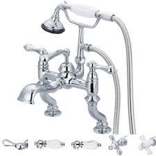 Tub Faucet Hand Shower Dcor Design Stonington Adjustable Center Deck Mount Tub Faucet