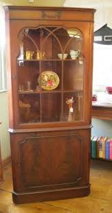 Display Hutch Mahogany Corner Cabinet Ebay