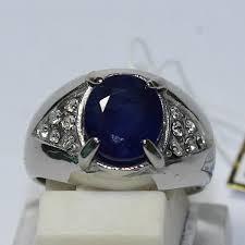 model cincin blue safir penggemar batu cincin