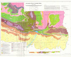 Map Nepal India by Geological Map Of Eastern Nepal Available On Samsamwater