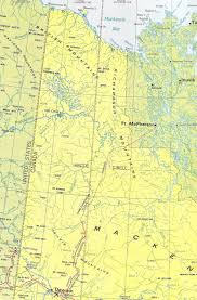 Map Of Yukon Map Of The Dempster Highway Yukon In 1972