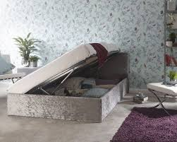 double bed 4ft ottoman storage side lift crushed velvet bedframe
