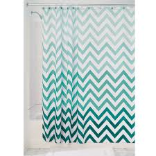 Mint Green Bathroom Accessories by Amazon Com Interdesign Ombre Chevron Fabric Shower Curtain 72