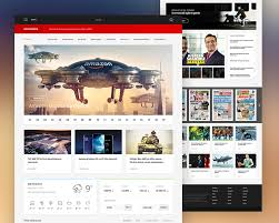 layout web portal news portal website template free psd download download psd