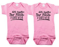 twin baby shower gift btbff born together best friends