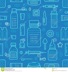 medical drugstore seamless pattern pharmacy vector colored