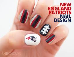 nail design new england patriots manicure tutorial