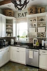 Above Kitchen Cabinet Decor Ideas - above kitchen cabinet decor ideas ate s door decorating white