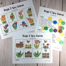 bug i spy game listening activity for pre k available at https