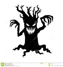 scary tree stock illustration image 58452001