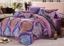 Purple Paisley Comforter Retro Palace Bedding Set Blue Paisley Bedding Duvet Cover King