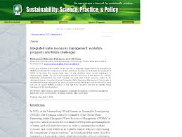 sspp integrated water resources management evolution prospects