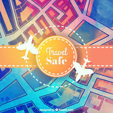 travel safe images Travel safe background in hand painted style vector free download jpg