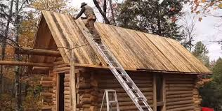 wood cabin this build a log cabin from scratch mnn