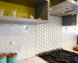 Hexagon Glass Tile Backsplash - Hexagon tile backsplash