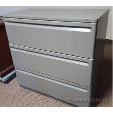 herman miller grey 3 drawer lateral file cabinet locking
