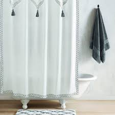 Charcoal Shower Curtain White Charcoal Shower Curtain By Robshaw
