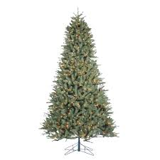 christmas tree pic sterling 9 ft indoor pre lit natural cut toledo pine artificial