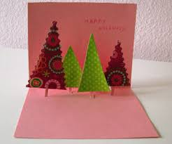 christmas tree pop up card christmas lights decoration