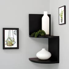 Home Decor Shelf by Modern Geometric Shaped Coroner Floating Shelves For Home Décor