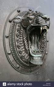 lion door knocker lion door knocker for in liverpool merseyside uk stock photo royalty