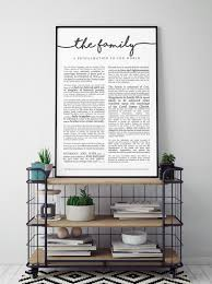 family proclamation family proclamation print on premium paper lds