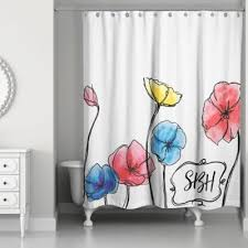 White On White Shower Curtain Buy Floral Fabric Shower Curtains From Bed Bath U0026 Beyond