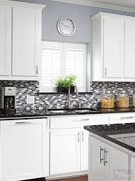 Colorful Kitchen Backsplashes Glass Tile Backsplash Inspiration Purple Glass And Gray