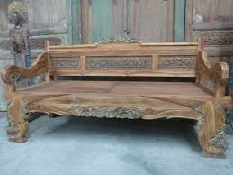 antique wooden bench seat balinese furniture hand carved recycled teak bench seat daybed