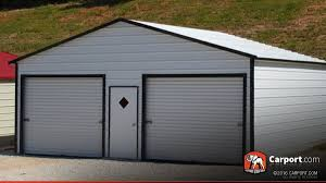 Carports And Garages Metal Garage Building Boxed Eave Roof 22 U0027 X 21 U0027 Shop Buildings
