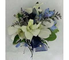 royal blue corsage and boutonniere corsages boutonnieres delivery branford ct myers flower shop