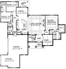 House Plan With Two Master Suites Dividing A Room With Stud Wall What Is The Minimum Size Opening