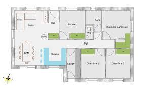 plan 4 chambres plain pied maison plein pied 4 chambres plan maison chambres m with maison