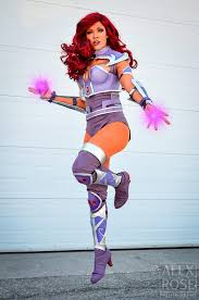 starfire costume armored starfire by becs cos on deviantart