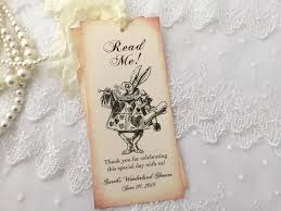 white rabbit bookmarks read me alice in wonderland bookmarks