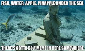 Fish In The Sea Meme - image tagged in deep thought imgflip