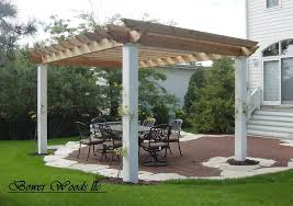 15 u0027 x 15 u0027 garden pergola with lattice roof and privacy panels in