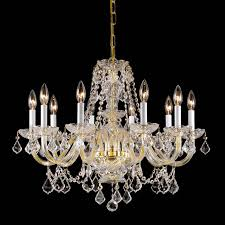 Cristal Chandeliers by Weinstock Illuminations 201 10h 10 Light Crystal Chandelier The Mine