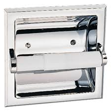 recessed toilet paper holder with shelf recessed toilet paper holders bathroom hardware the home depot
