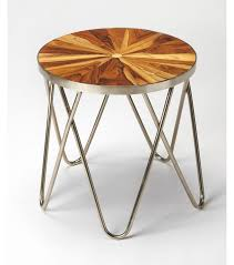 Modern Side Tables Inlay Top Paperclip Mid Century Modern Side Table