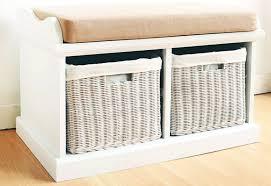 bedroom outstanding top contemporary storage bench wicker baskets