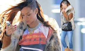 extension in shaved back and side hair rihanna rocks her shaved head and extensions as she prepares to