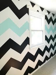how to paint chevron stripes black white u0026 turquoise memehill