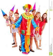 clowns for a birthday party birthday party of with clown stock photo image of